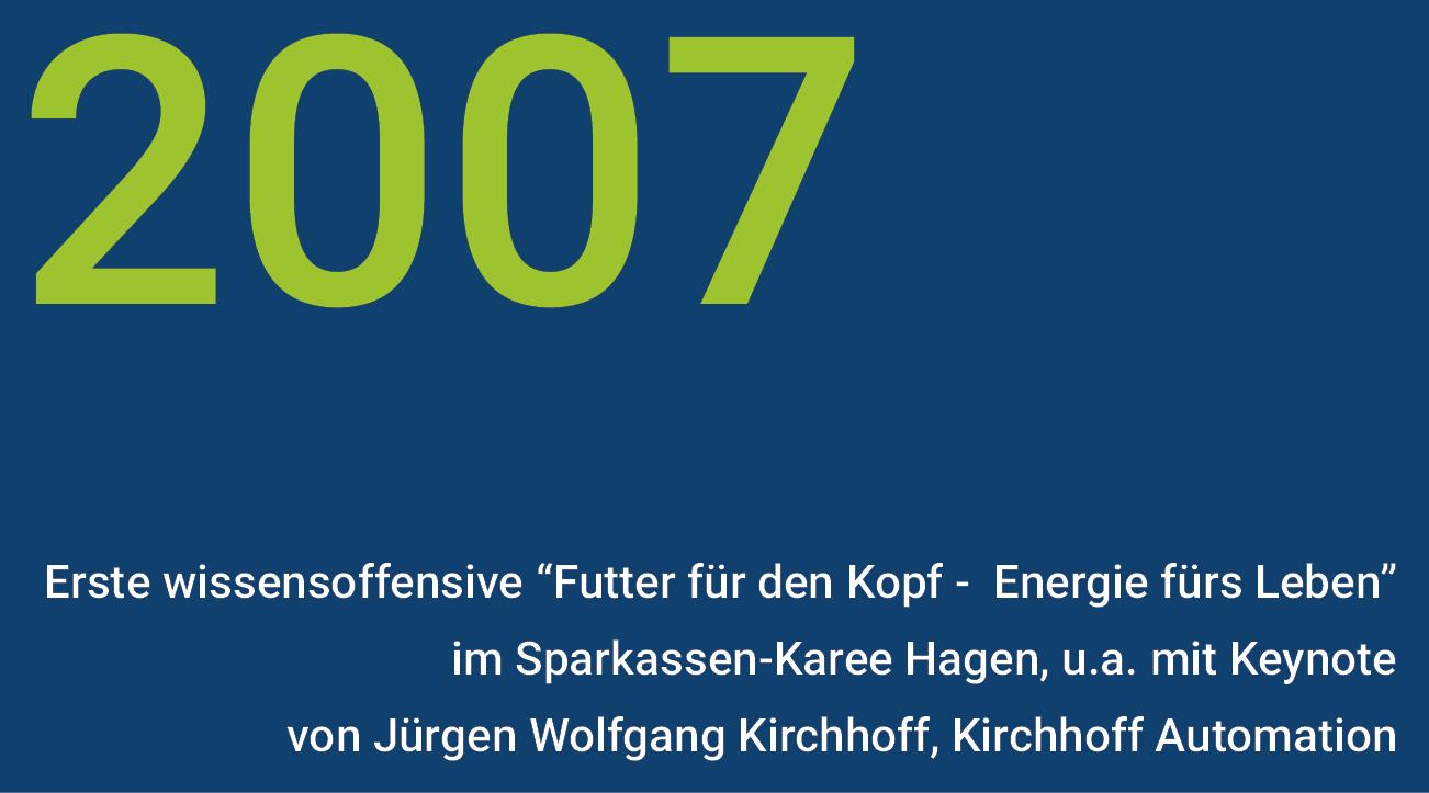 Meilensteine - wisnet 2007