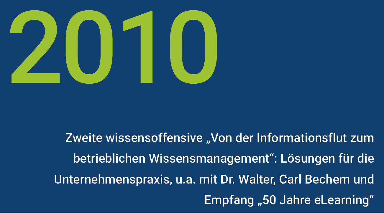 Meilensteine - wisnet 2010